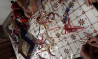 vyhotovenie vianočných ozdôb zo stuh